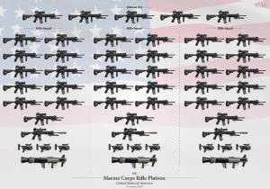 Štruktúra pešej čaty USMC